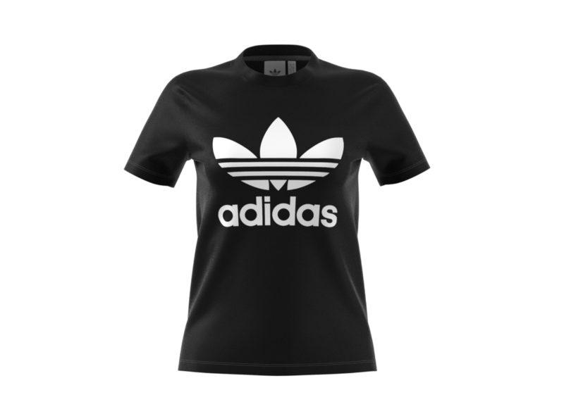 Adidas Trefoil Tee Black Women's